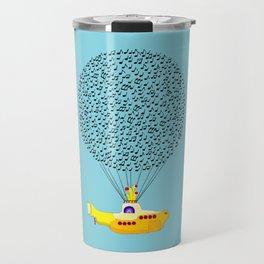 Musical Yellow Submarine Travel Mug