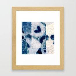 blue heart on the wall Framed Art Print