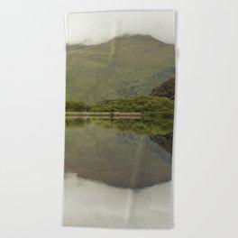 Reflections from Diamond Lake Beach Towel
