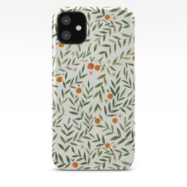 Oranges Foliage iPhone Case