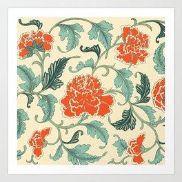 Chinese peony Art Print