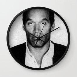 O.J. Simpson Mug Shot Wall Clock