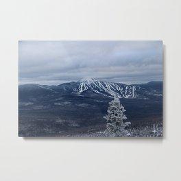 Winter Overlooking Sugarloaf Metal Print