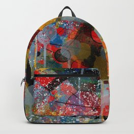 Kandinsky Action Painting Street Art Colorful Backpack