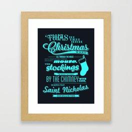 'Twas the Night Before Christmas (Print #1) Framed Art Print
