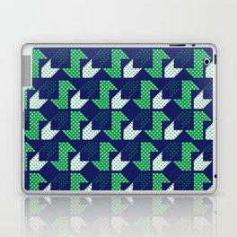 Clover&Nessie Denim/Spinach Laptop & iPad Skin