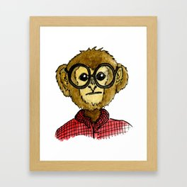 The Monkey with the Round Glasses Framed Art Print