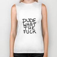 the dude Biker Tanks featuring dude by Gianna's Illustrations