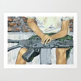 Child Soldier 2 Art Print