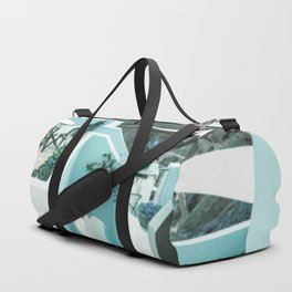 Stairway Greek Island Thira Aegean Sea Duffle Bag