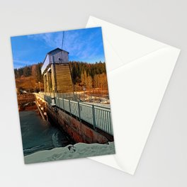 Hydropower station in winter wonderland | architectural photography Stationery Cards
