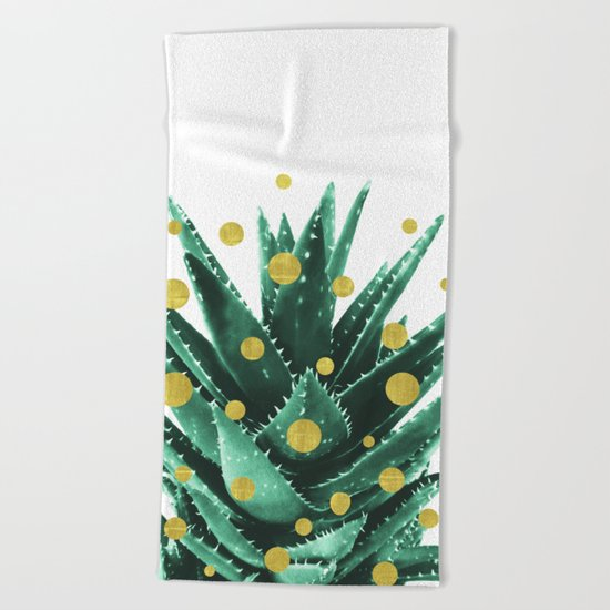 Christmas Succulent Beach Towel