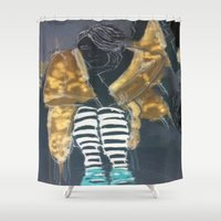 grace Shower Curtains featuring grace by Ashley James