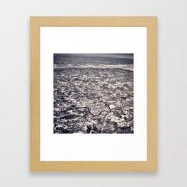 Aerial B&W Framed Art Print
