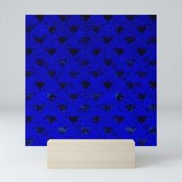 Blue gem Mini Art Print