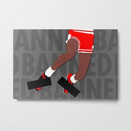 Banned (Grey) Metal Print