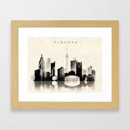 Toronto, Black and White, Canada Framed Art Print