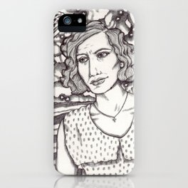 Women in Water: Loretta with Pies in the Sky iPhone Case