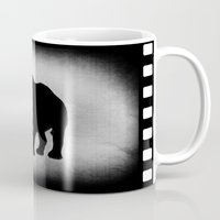 rhino Mugs featuring Rhino by LoRo  Art & Pictures