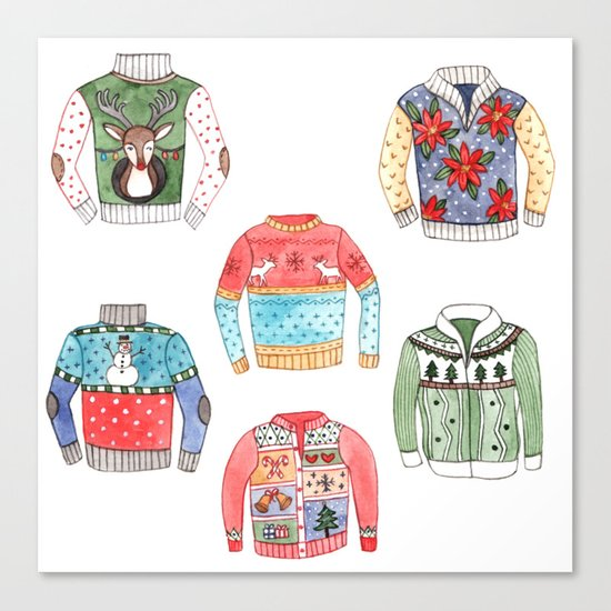 Ugly Sweaters Canvas Print