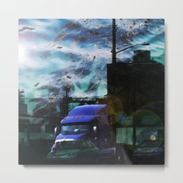 Seaweed Trucking Metal Print