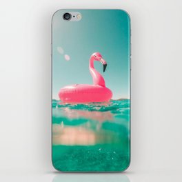 Pink swan iPhone Skin