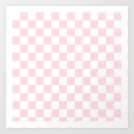 pink checkered pattern Art Print