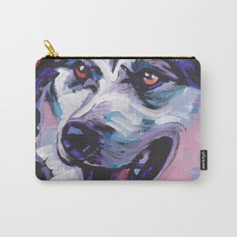 Fun Alaskan Malamute Dog Portrait bright colorful Pop Art by LEA Carry-All Pouch