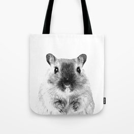 Black and White Hamster Tote Bag