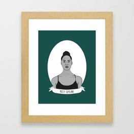 Misty Copeland Illustrated Portrait Framed Art Print