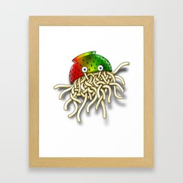Pastafarian Flying Spaghetti Monster Rastafarian FSM Colander Framed Art Print