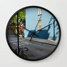 Shadows on a Greenwich Village street, NYC Wall Clock