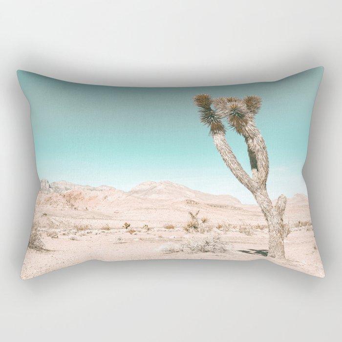 Vintage Desert Scape // Cactus Nature Summer Sun Landscape Photography Rectangular Pillow