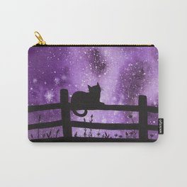 Night full of Sky Purple Watercolor Galaxy Painting Carry-All Pouch