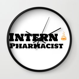 Intern Pharmacist & Caffeine Wall Clock