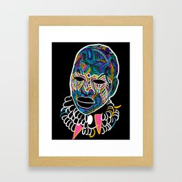 Voodoo Portrait with ethnic ornaments Framed Art Print