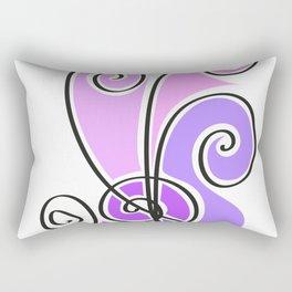 pink waves lines Rectangular Pillow