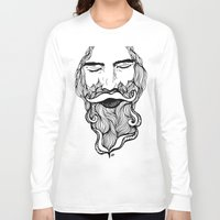 beard Long Sleeve T-shirts featuring Beard  by Holly Harper