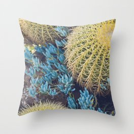 Boho Cactus Garden Throw Pillow