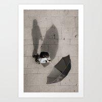 it's raining shadows Art Print
