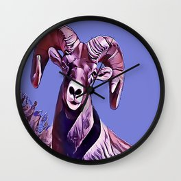 The Mountain Ram Wall Clock