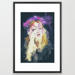 Path - Abstract Portrait Framed Art Print