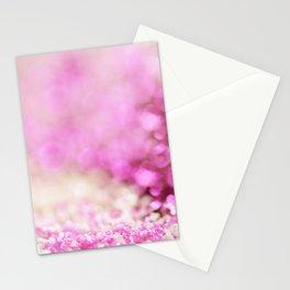 Pink and white shiny glitter effect print - Sparkle Valentine Backdrop Stationery Cards