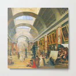 Hubert Robert Great Gallery of the Louvre Metal Print