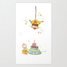 Baby birthday Art Print