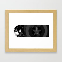 Black and White Pen Work Framed Art Print