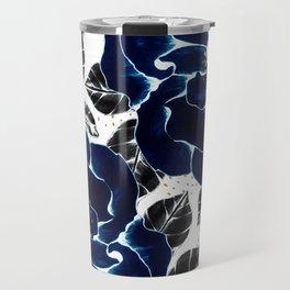 Blue large flowers Travel Mug