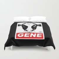 obey Duvet Covers featuring Obey Gene by Ant Atomic