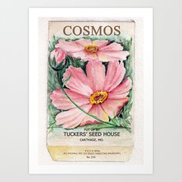 Cosmos Seed Packet Art Print