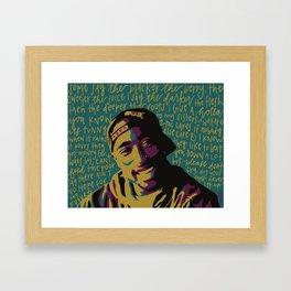 Keep Ya Head Up. Framed Art Print